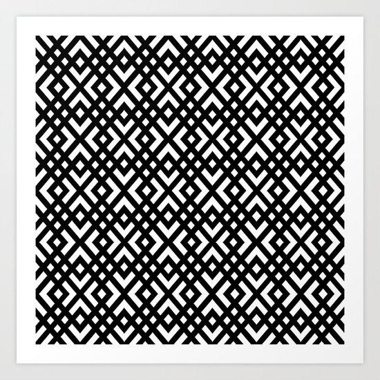 dijagonala v.4 Art Print