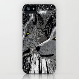 WOLF ENCOUNTER #2 iPhone Case