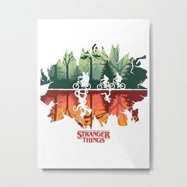 Stranger Thing The Upside Down Metal Print