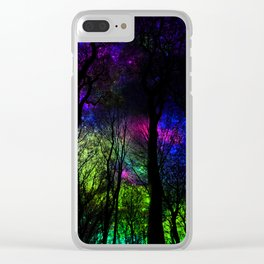 Blissful forest ii Clear iPhone Case