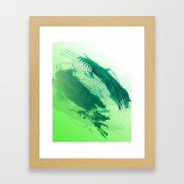 Green Smear Framed Art Print