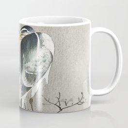 Heron sitting on tree branch - Japanese vintage woodblock print Coffee Mug