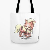 projectrocket Tote Bags featuring K-9 Unit by Randy C