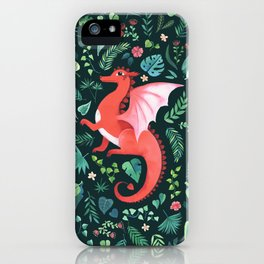 Tropical Dragon iPhone Case