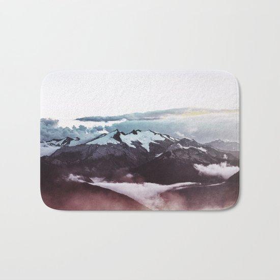Faded mountain Bath Mat