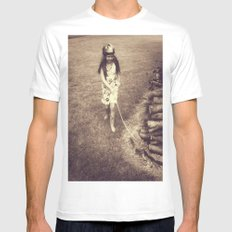Alice and Dinah Mens Fitted Tee White MEDIUM
