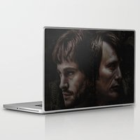 will graham Laptop & iPad Skins featuring Hannibal Lecter and Will Graham - Anatomy of Insanity by thecannibalfactory