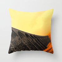 hogwarts Throw Pillows featuring To Hogwarts by thejennii