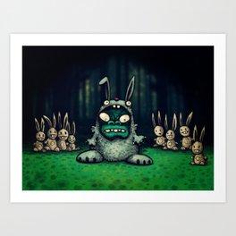 faux lapin Art Print