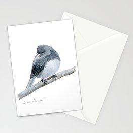 The Bashful Black-Eyed Junco by Teresa Thompson Stationery Cards