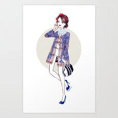Blair x Louis Vuitton Art Print