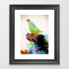 Bird standing on a tree Framed Art Print