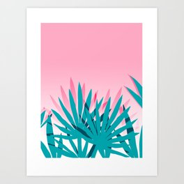 Dissed - memphis retro vintage neon pink pastel ombre trendy girl gift for hipster urban beach goer Art Print