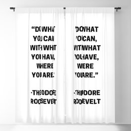 DO WHAT YOU CAN - MOTIVATIONAL QUOTE Blackout Curtain