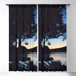 Silhouettes: Dawn on Lake George Blackout Curtain