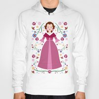 belle Hoodies featuring Belle by Carly Watts