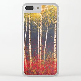 Birch Trees in the Fall Clear iPhone Case