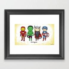 Super Cute Heroes: Avengers! Framed Art Print