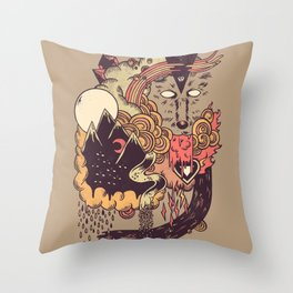 Leader of the Pack Throw Pillow