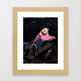 BTS SUGA SPRING DAY FANART Framed Art Print