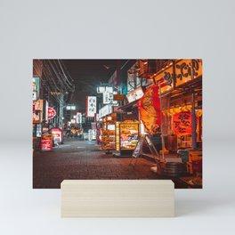 Warmth of Neon Tokyo Signs Mini Art Print