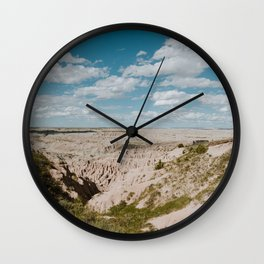 Red Shirt Table - Badlands National Park Wall Clock