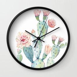 Cactus 2  White #society6 #buyart Wall Clock