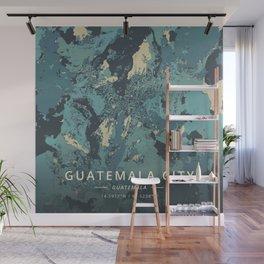Guatemala City, Guatemala - Cream Blue Wall Mural