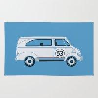 vans Area & Throw Rugs featuring Herb The Love Van by Brandon Ortwein