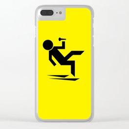 Cuidado Piso Mojado WORLD TOUR Clear iPhone Case