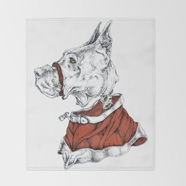 The great dane Throw Blanket