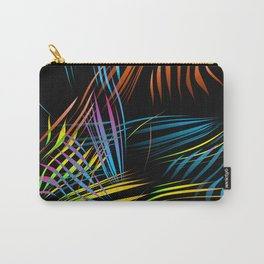Art background from the branches of a palm tree. Abstraction on a theme of tropics and palms Carry-All Pouch