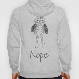 Nope in Black & White Hoody