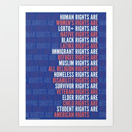 Human Rights are American Rights Art Print