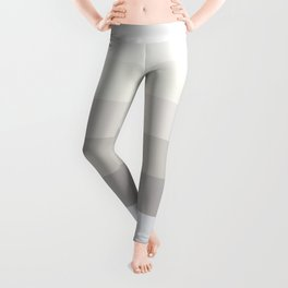 Elegant modern simple ivory pastel colors color block pattern Leggings