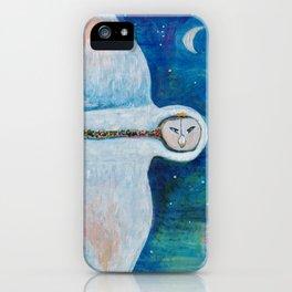 White Sacred Snow Owl iPhone Case