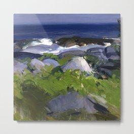 "George Wesley Bellows ""Vine Clad Shore - Monhegan Island"" Metal Print"
