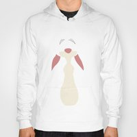 winnie the pooh Hoodies featuring Winnie the Pooh - Rabbit by TracingHorses
