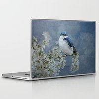 swallow Laptop & iPad Skins featuring Tree Swallow by TaLins