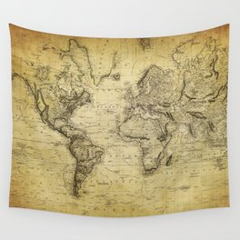 World Map 1814 Wall Tapestry