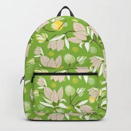 Magnolia Blossom Greenery Backpack