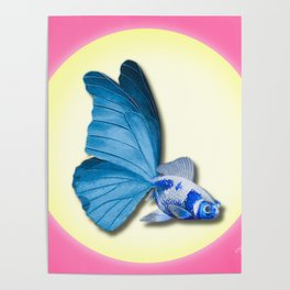 THE BUTTERFLY FISH - Barbara Poster