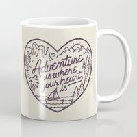 Adventure is where your heart is Mug
