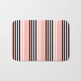 Geometric Design 8 to compliment Horizons Geometric Design 5 - Peach Pink Bath Mat