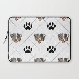 Australian Shepherd Paw Print Pattern Laptop Sleeve