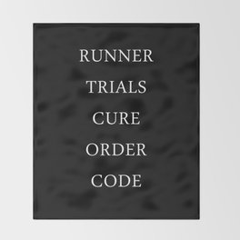 Maze Runner Titles Throw Blanket