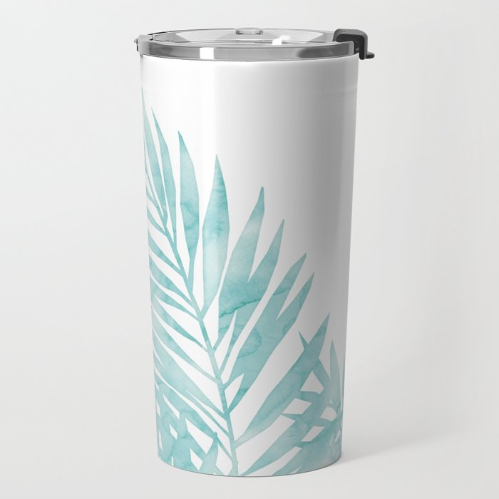 Palm Leaves Island Paradise Travel Mug