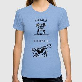 Inhale Exhale Schnauzer T-shirt