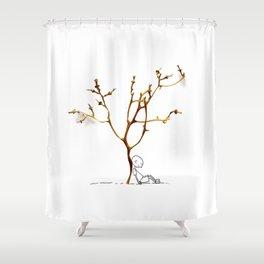 Grape tree Shower Curtain