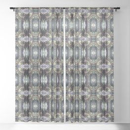 """forest """"troll"""" in the snow #2 pattern Sheer Curtain"""